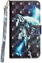 KINGCOM-Wallet Cases - Flip Cover Wallet Case For ZTE Blade L5 Plus Zmax Pro Z981 Z988 Fundas Bags For for iPhone 11 Pro Max SE 2020 6 6S 7 8 Plus (Wolf For iPhone X or XS)