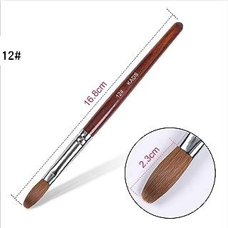 KADS Kolinsky Sable Acrylic Nail Art Brush Red Wood Pen Nail Brush for Nail Art Manicure Tool (12#)