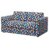 Soferia Funda de Repuesto para IKEA VIMLE sofá de 2 plazas, Tela Mozaik Blue, Azul
