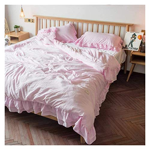HFXY Fluffy King Duvet,1.5 Tog 100% Cotton Machine Washable Trendy Lightweight Durable Fade Resistant Quilt Bedding Set 1021
