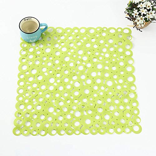 DLSM Anti-slip mat square anti-slip mat PVC bathroom bathroom circle hollow mat massage mat easy to clean-C2_54*54CM