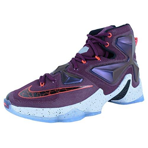 Nike Men's Lebron XIII Basketball Shoes, Pink/Black/Silver/Purple (Mulberry/Blk-Pr Prpl Pltnm-VVD), 12 UK