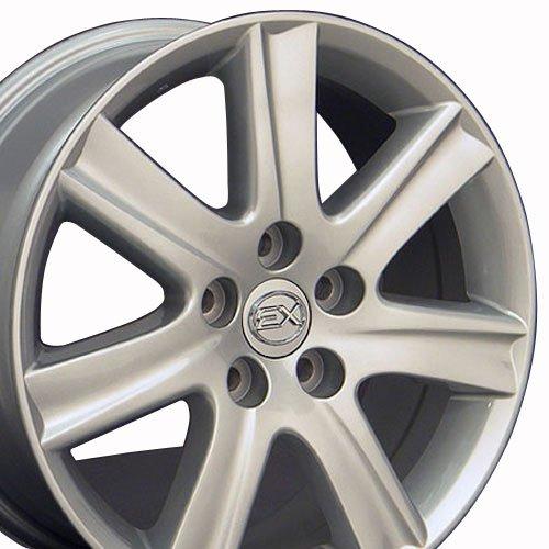 OE Wheels LLC 17 inch Rim Fits Lexus ES 350 Wheel LX12 17x7 Silver Wheel Hollander 74190