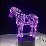 Cute Unicorn Pferd Tier Lichter 3D Led Lampe 7 Bunte Acryl Lampe Als Hauptdekorationen Lichter Kinder Schlafen Lava Lampe
