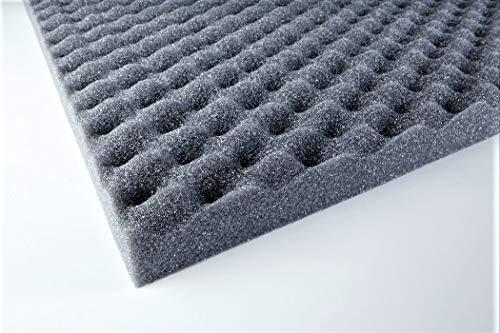 Noppenschaum 0,5 m2 günstig sehr hochwertig - Absorber - PUR - Anthrazit 100 x 50 x 2 cm 0,5m2