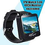 Flysight 5.8Ghz Horloge FPV Racing Band 40 Canal Récepteur Moniteur Écran Mini Montre utilisable avec HD Raceband Real IME écran vidéo de 2 Pouces pour Drones RC