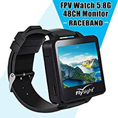 【Style Wearable Design】Wrap wrist with a stylish watch that is in fact a FPV monitor; this innovative design allows you to monitor your flight performance via a smart 5.8Ghz watch, adding excitement and convenience for your flying experience by Flysi...