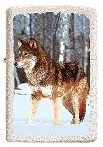 Zippo – Wolf en Hielo Mercury Glass – Mechero Recargable de Gasolina – en Caja de Regalo