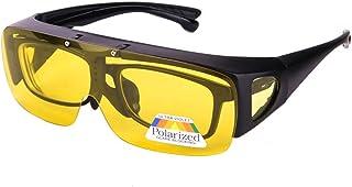 Dollger - Gafas de Conducción Nocturna Sobre Gafas Graduadas HD Polarizadas Antideslumbrantes Visión Nocturna Gafas Protección UV400 Hombre Mujer