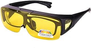 Night Vision Glasses Polarized Fit Over Prescription Flip Up Lens Driving Night Glasses for Men Women