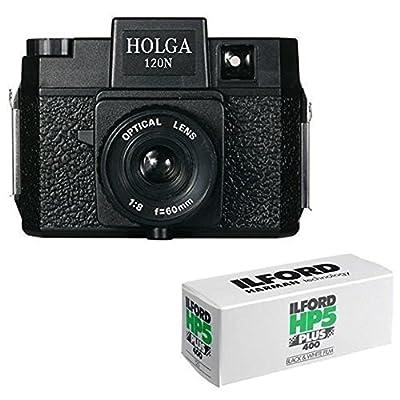 Holga 120N Medium Format Film Camera (Black) with 120 Film Bundle from Holga