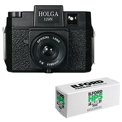 Holga 120N Medium Format Film Camera (Black) with 120...