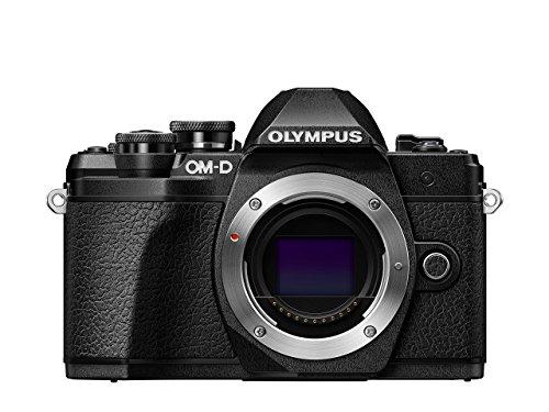 Olympus OM-D E-M10 Mark III Micro Four Thirds Systemkamera, 16 Megapixel, Bildstabilisator, elektronischer Sucher, 4K-Video, schwarz