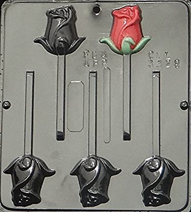 Rose Lollipop Chocolate Candy Mold 3328