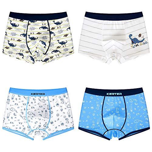 Calzoncillos infantiles D C.Supernice con estampado de dinosaurios y caballitos de mar, 2 paquetes o 4 paquetes de ropa interior boxer Hipster