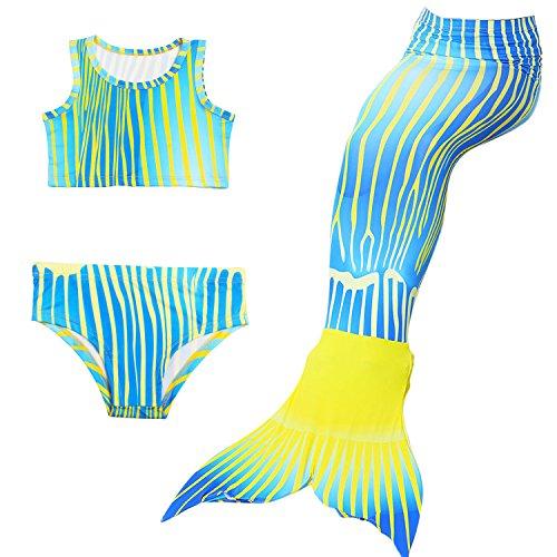 DUBAOBAO Zeemeermin staart, Strand surfen vakantie feest zwemmen badpak, mooi meisje zeemeermin staart, Zeemeermin pak bikini staart Cool en comfortabel