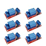 ARCELI 6Pcs 5V One 1 Channel Relay Scudo Scheda del modulo con Optocoupler Supporto modulo di Alimentazione Trigger di Livello Alto e Basso per Arduino