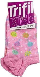 Meia Trifil Kids Cano Curto Desenhada Rosa