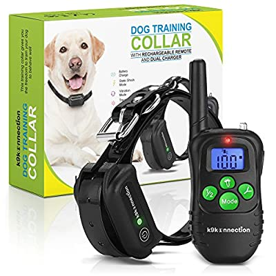 DOG TRAINING COLLAR WITH REMOTE | Electric, Rechargeable and 100% Waterproof with Beep, Vibration and Stimulation Static Pulse | Electronic Pet Safe Vibrating Collar for Small, Medium and Large Dogs