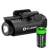 OLIGHT PL1 II Valkyrie 450 Lumen LED Pistol Light with EdisonBright CR123A Lithium Battery Bundle