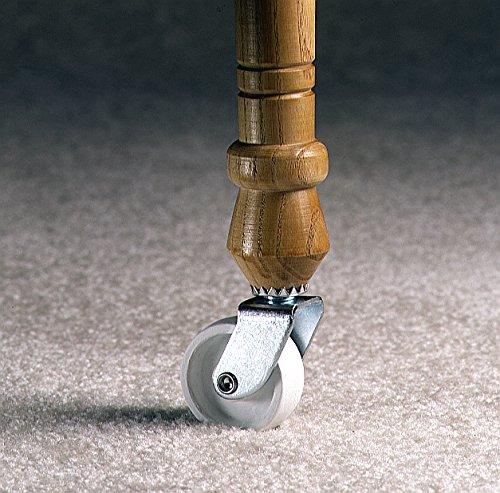 Shepherd Hardware 9053 1-1/4-Inch Plastic Stem Casters, 4-Pack