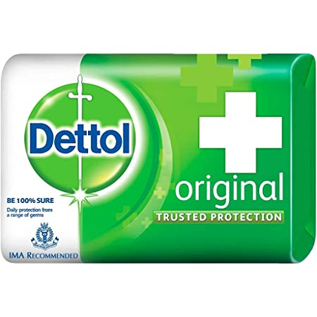 Dettol Original Germ Protection Bathing Soap Bar (Pack of 6 - 125g each), Combo Offer on Bath Soap