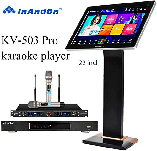 Great Features Of 2020 InAndon KV-503 Pro Karaoke Player 8T, with 2 top Grade Wireless Mic, 21.5'' C...