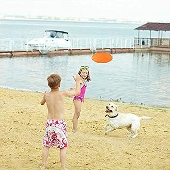 WELLXUNK Disque Chien, Frisbees pour Chien, 2 Pcs Frisbee Jouet Chien, pour Jeux Sport Exercice Activité et Jeu en Plein, pour Petits Et Moyens Chiens (M)
