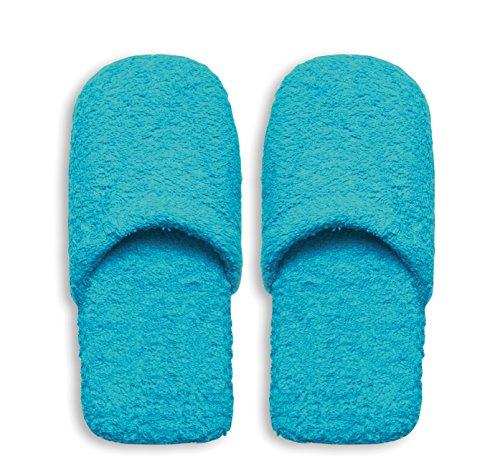 Excelsa Bagno Caldo Pantofole Da Uomo, Spugna, Azzurro, 30x12x5 cm
