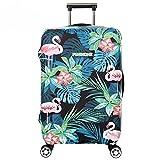 Cubierta de Equipaje en Flamingo Form,Duradero Protector Lavable Plegable, el tamaño del Protector de la Maleta se Ajusta 18-32 Pulgadas (Flamenco 6, L)