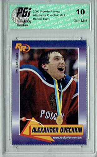 Alexander Ovechkin 2003 Rookie Review #44 Rookie Card PGI 10