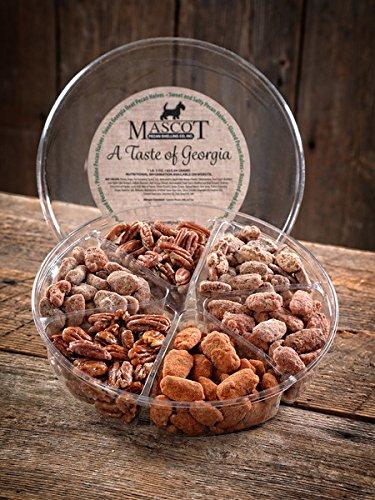 Mascot Pecans & Nut Gifts Since 1955- A Taste of Georgia Pecans Gourmet Geschenkkorb, groß, 6 leckere Sorten an einem Ort