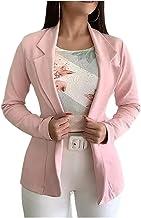 Vrouwen herfst dunne blazers revers lange mouw jas pak enkele knop blazer