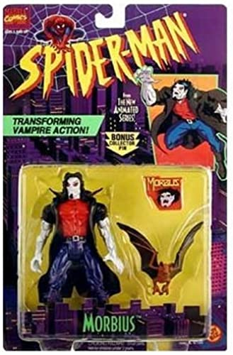 Obtén lo ultimo SPIDER-MAN ANIMATED SERIES SERIES SERIES MORBIUS WITH TRANSFORMING VAMPIRE ACTION by Spider-Man  salida para la venta