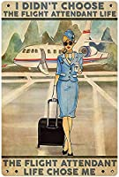 RCY-T Beautiful Sexy ブリキサイン Classic Stewardess Poster メタルサイン Bar Club Family Cafe Wall Decoration 8x12 Inches Retro-8-8x12 inch