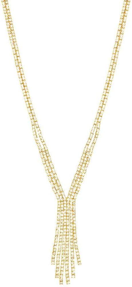 Stroili  collana per donna multifili  in metallo dorato con strass 1668681