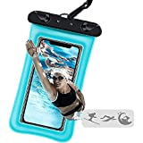 Jmart Floating Waterproof Pouch Cell Phone Dry Bag Case for Samsung Galaxy S21 Ultra S20+ S10 S9 Note 20 A01 A11 A12 A32 A42 A52 A10e A20 A21 A51 A71 iPhone 12 Pro Max 11 XS XR 8 7 up to 7'-Turquoise