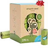 Earth Rated Dog Poop Bags, 270 Extra Thick and Strong Poop Bags for Dogs, Guaranteed Leak-Proof, Unscented, 18 Rolls, 15...