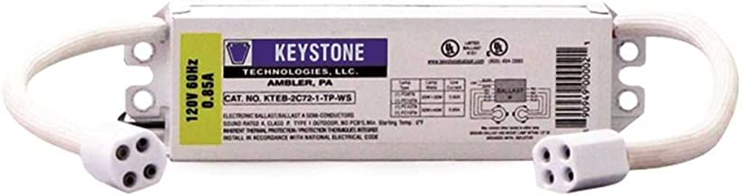 Keystone Ballasts 22 & 32 Watt or 32 & 40 Watt circline, 120V, w/sockets, ELECTRONIC model number KTEB-2C72-1-TP-WS-CP