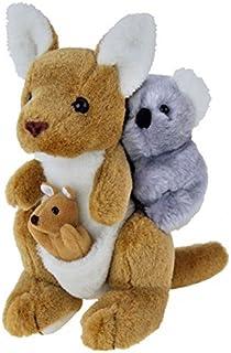 Elka Australia 13939 Kangaroo with Joey and Koala Soft Plush Toy, 24 Centimeters