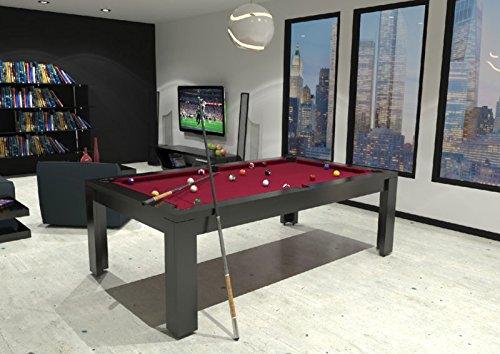 dafnedesign. com – Mesa de billar – Acabado Color Lacado – Color x 254 x 127 cm – Piano de cubierta para trasformarlo de mesa de comedor – ist Personalizar el mesa –