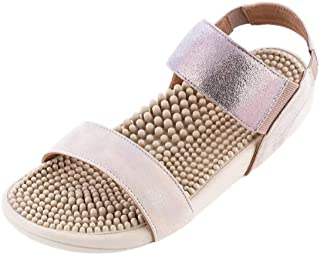 Japanese Massage/Reflexology Sandal by Kenkoh - Women's Sakura Shoe with Ankle Strap - For Acupressure Therapy