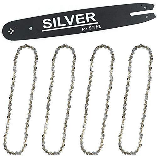 Schwert für Kettensäge Stihl + 4 Stück Sägekette 35cm Kette 3/8