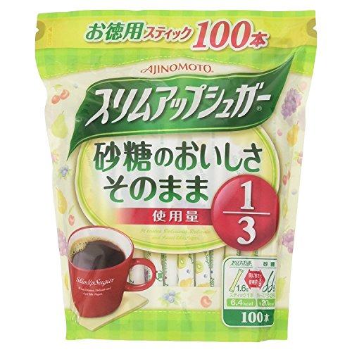 味の素 パルスイート スリムアップシュガー スティック 160g(1.6g×100本)×10袋入×(2ケース)