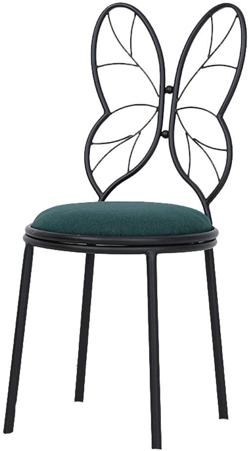 SHIJIAN Modern Bar Stools Set, Metal Butterfly Backrest Base for Breakfast Bar, Counter, Kitchen and Home Barstools (Size   38  85CM) (color   color C)