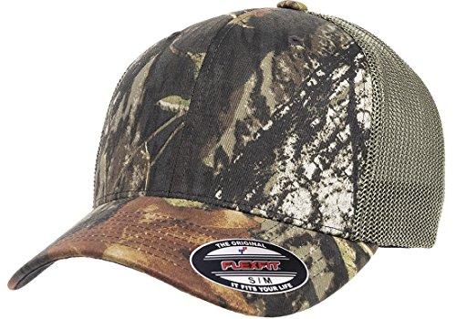 Flexfit Premium Original Blank Mossy Oak Stretch Mesh Trucker Cap (Mossy Oak Breakup/Olive Green)