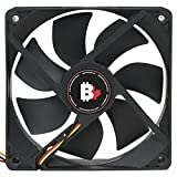 High Airflow PC Case Fan - 120 mm 3 Pin Dual Ball Bearing Cooling Fan with Thin Blades and Long Life. 3000 RPM Computer Fan for Desktop CPU Coolers, Radiators. 6.6 W 12v Fan