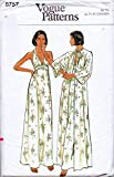Vogue 8757 Misses Loose-Fitting, Maxi Length Robe and Gown Vintage Sewing Pattern