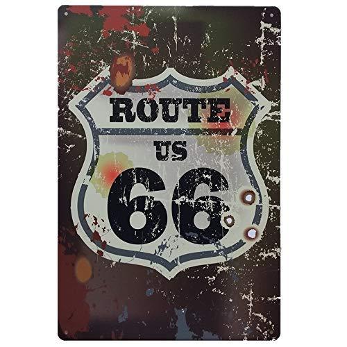 MARQUISE & LOREAN Ruta 66 Decoración Pared | Placa Decorativa Vintage Route |...