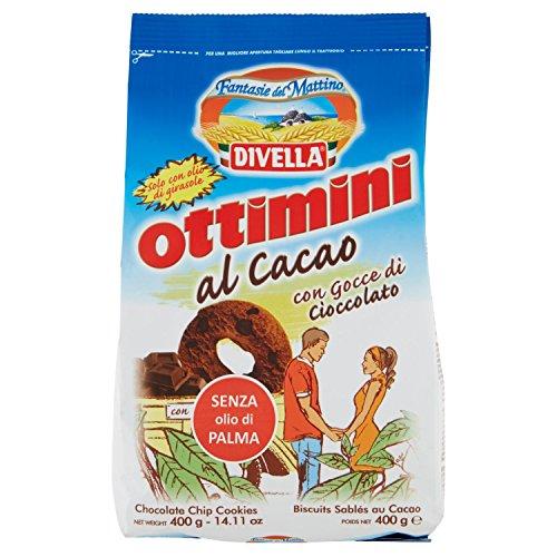Divella Biscotti Ottimini, con Gocce di Cioccolato, 400g